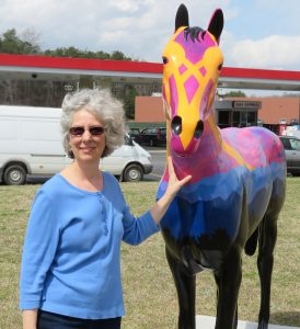 "Artist Vicki Van Vynckt, ""One Beautiful Earth"" horse"
